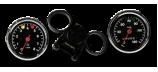 Tachometer und Drehzahlmesser und Instrumentenhalterung