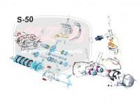 SIMSON 50 EXPLOSIONSZEICHNUNG VOM MOTOR S50