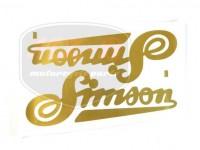 SIMSON 250 SCHRIFTZUG FOLIE F.KRAFTSTOFFBEHALT.