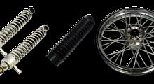Räder, Fahrwerk, Vordergabel vorne-hinten