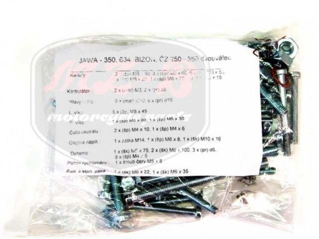 JAWA 350  6V SCHRAUBE SATZ F.MOTORGEHAUSE