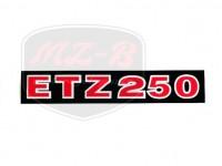 ETZ 250 SCHRIFTZUG FOLIE 250