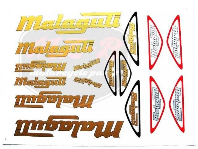 MALAGUTI UNIVERSAL SCHRIFTZUG FOLIE SATZ MALAGUTI GOLDEN-SILBER