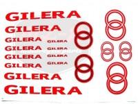 GILERA UNIVERSAL KLEBEFOLIE SATZ GILERA ROT-SILBER