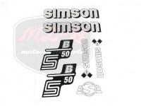 SIMSON 50 KLEBEFOLIE SATZ S50B SILBER