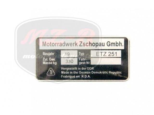 ETZ 251 TYPSCHILD /ETZ251/