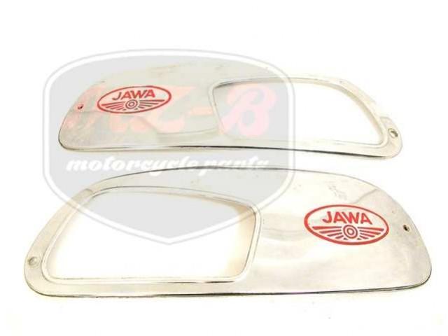 JAWA 350  6V BLENDE,VERCHROMT PAIR