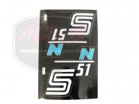 SIMSON 51 SCHRIFTZUG FOLIE S51N PAAR/BLAU/