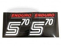SIMSON 70 KLEBEFOLIE PAAR /ROT/ ENDURO