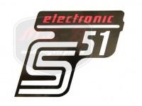SIMSON UNIVERSAL SCHRIFTZUG FOLIE S51 ELEKTRONIC /ROT/