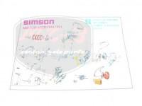 SIMSON 51 EXPLOSIONSZEICHNUNG VOM MOTOR S51