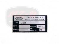 JAWA 350 12V TYPSCHILD /638/